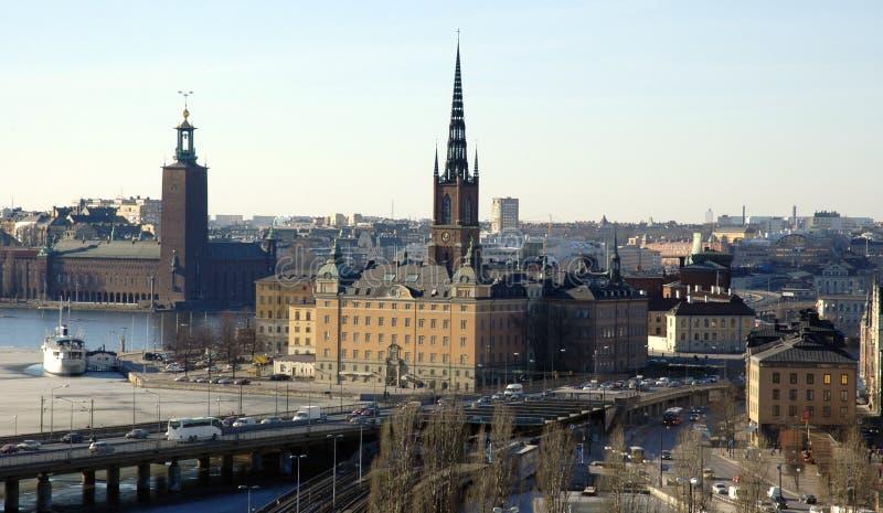 Estocolmo en el resorte temprano fotografía de archivo libre de regalías