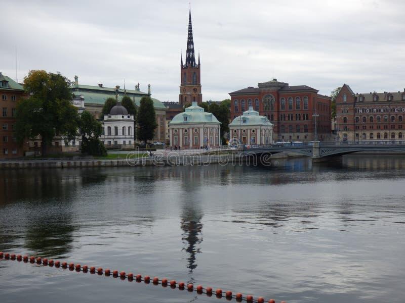 Estocolmo en la caída foto de archivo
