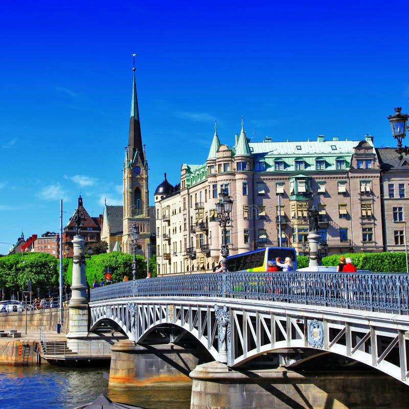 Estocolmo ilustrada fotos de archivo