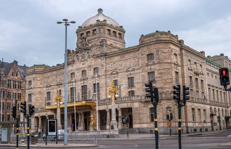 Estocolmo, Suécia - 1º de maio de 2019: Teatro Real Dramático, palco nacional sueco de drama falado, fundado em 1788 fotos de stock royalty free