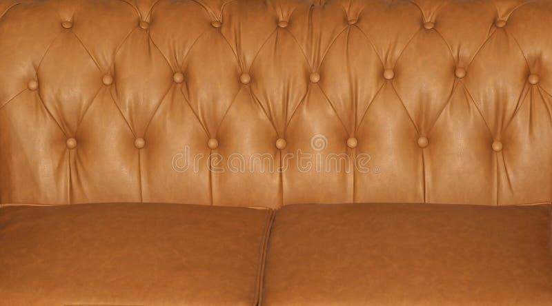 Estofamento de couro do sofá imagem de stock royalty free