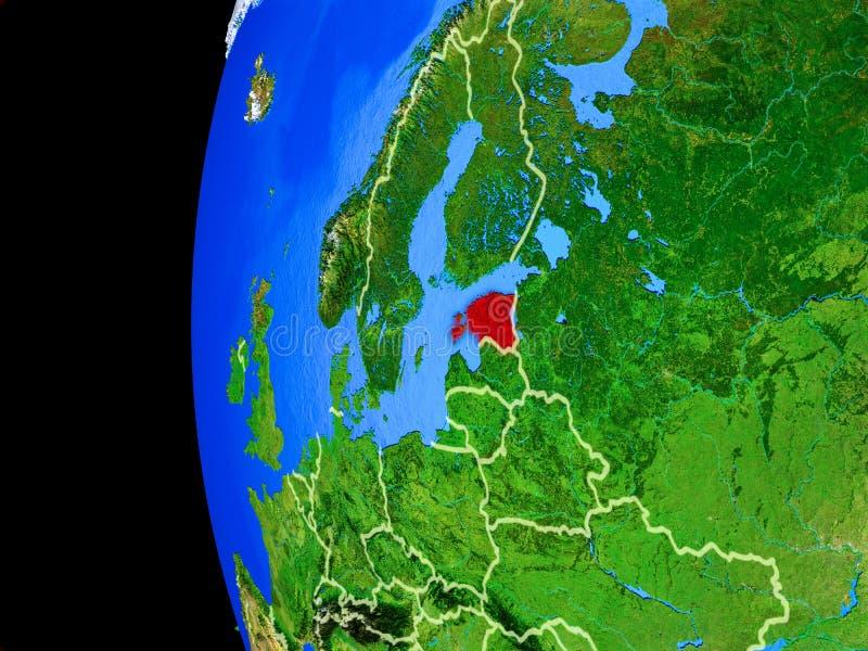 Estonia del espacio ilustración del vector