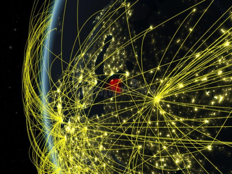 Estonia del espacio con la red libre illustration