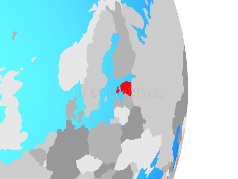 Estonia en el globo ilustración del vector