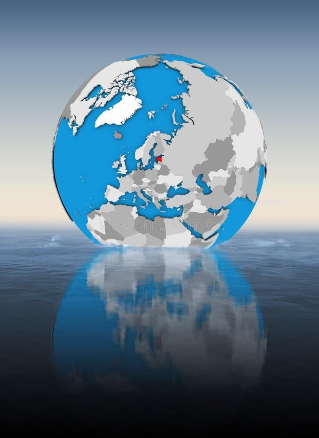 Estonia en el globo en agua libre illustration