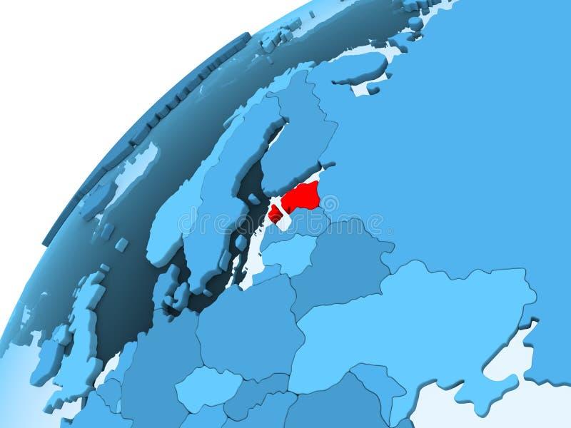 Estonia en el globo azul libre illustration
