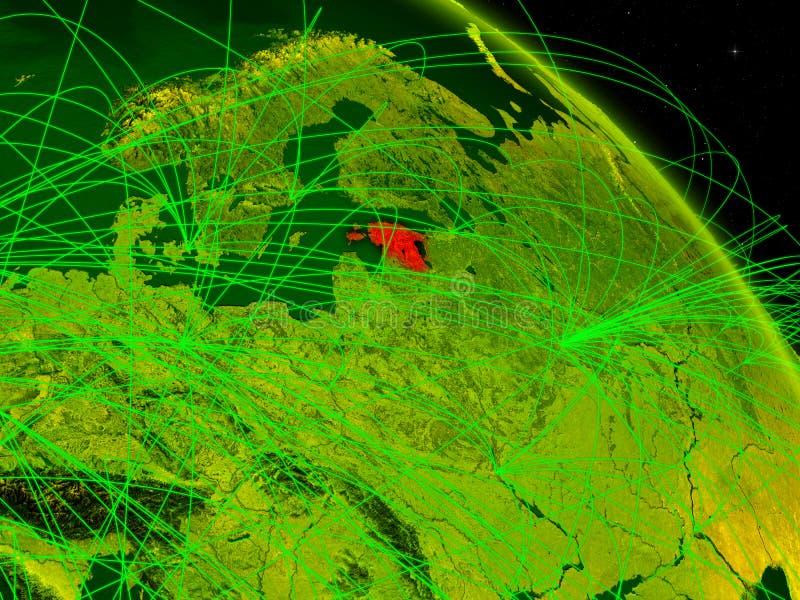 Estonia en el globo digital ilustración del vector