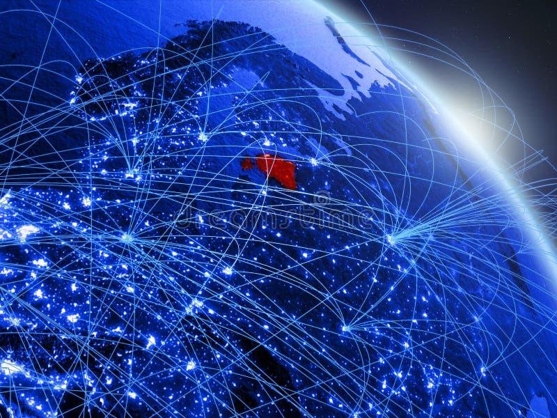 Estonia en el globo digital azul azul libre illustration