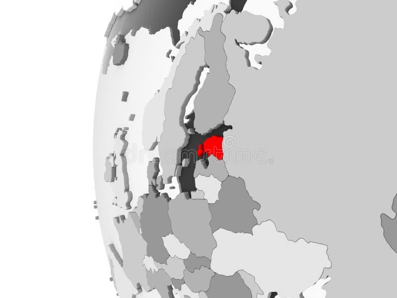 Estonia en el globo gris libre illustration
