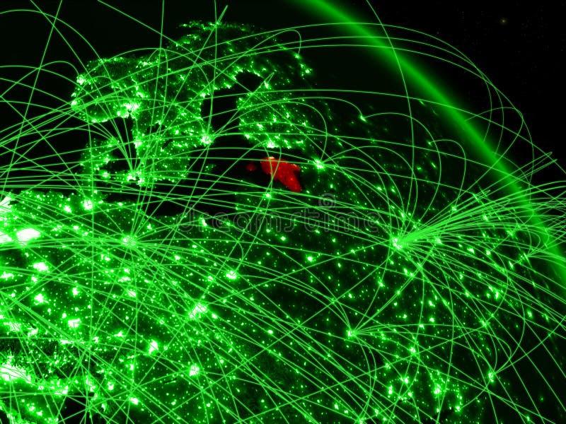 Estonia en el globo verde ilustración del vector