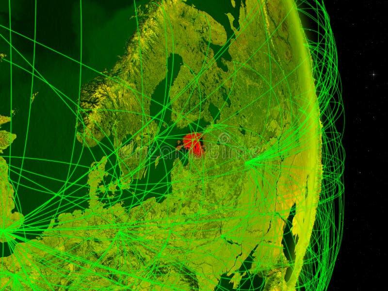 Estonia en la tierra digital stock de ilustración