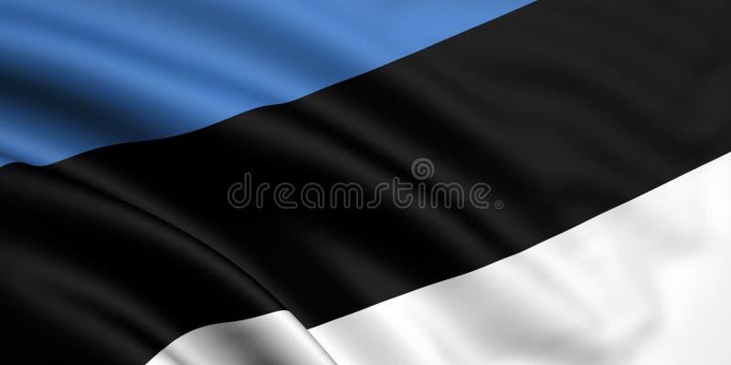 estonia flagę ilustracja wektor