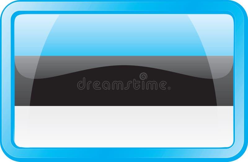 Estonia Flag Icon stock photography