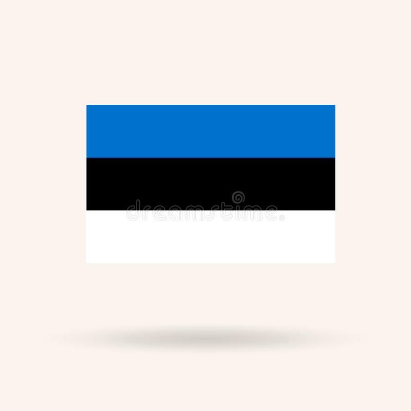 estonia flagga royaltyfri illustrationer