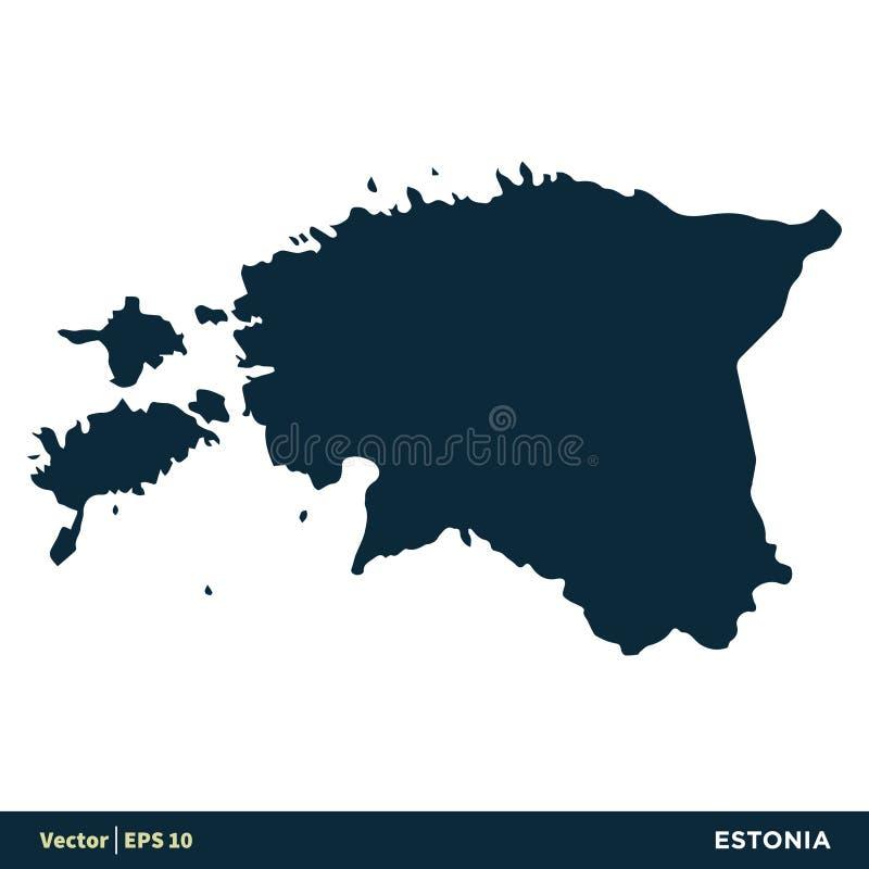 Estonia - los pa?ses de Europa trazan dise?o del ejemplo de la plantilla del icono del vector Vector EPS 10 libre illustration