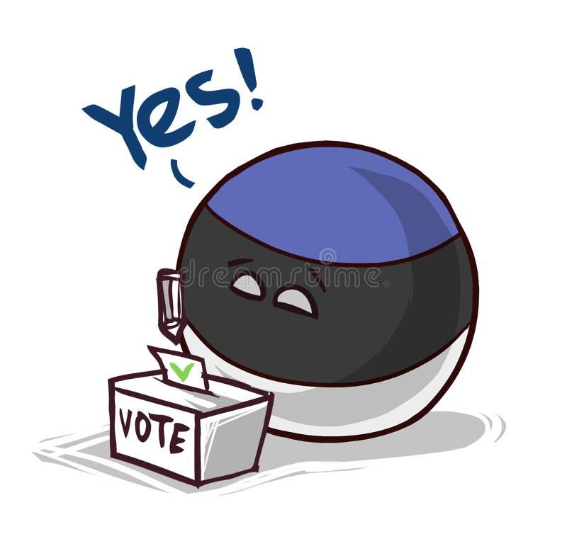 Estonia que vota sí ilustración del vector