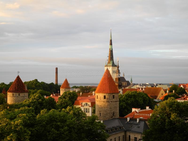 estonia stary Tallinn zdjęcia royalty free