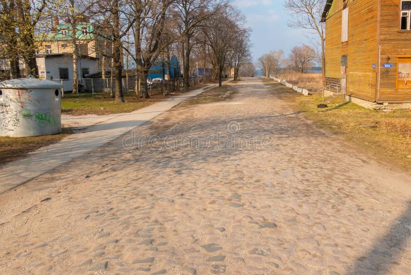 Estonia Tallin miasto distric Kopli obraz royalty free