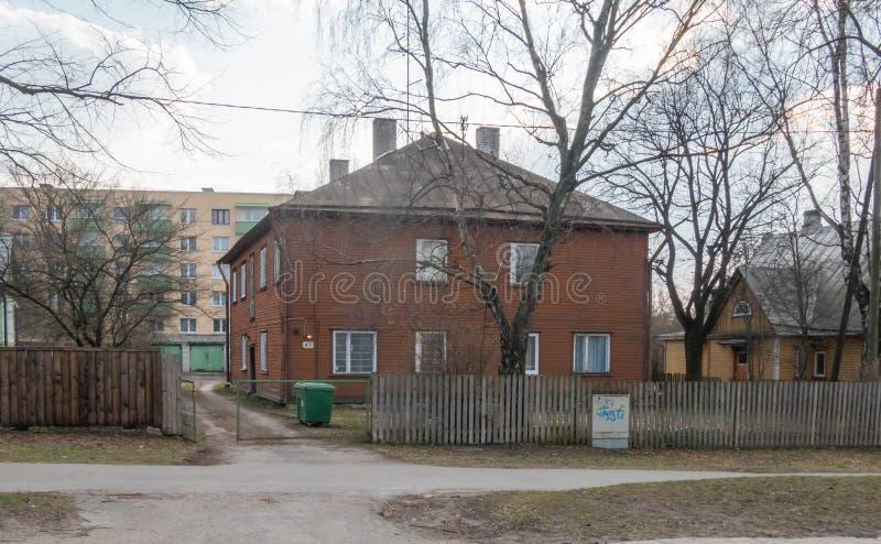 Estonia Tallin miasto distric Kopli zdjęcia stock