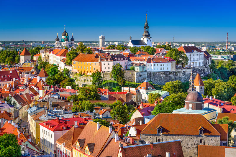 Estonia, Tallinn Skyline stock photo