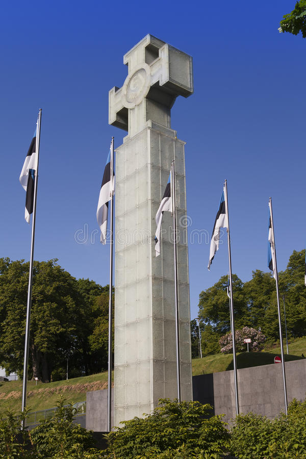 EstoniaFreedom monument on Freedom Square, is devoted to Emancipating war of 1918-1920, Tallinn, stock image