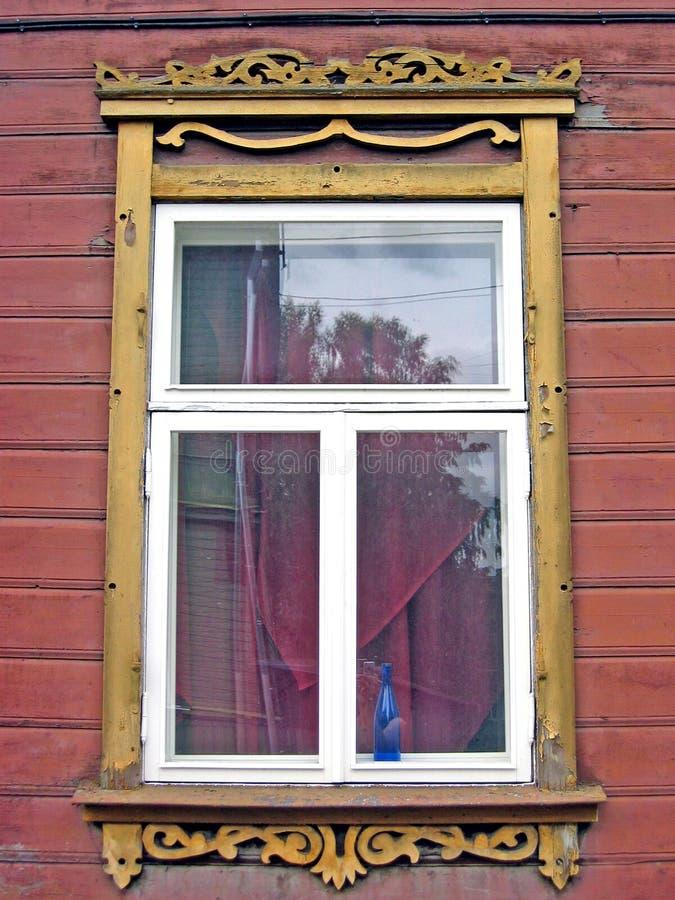 estonian fönster royaltyfri foto