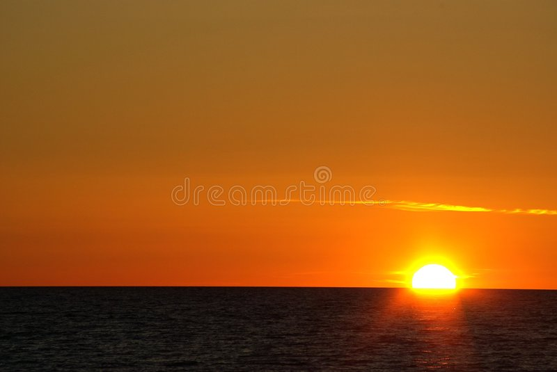 Estonian Sunset Royalty Free Stock Photography