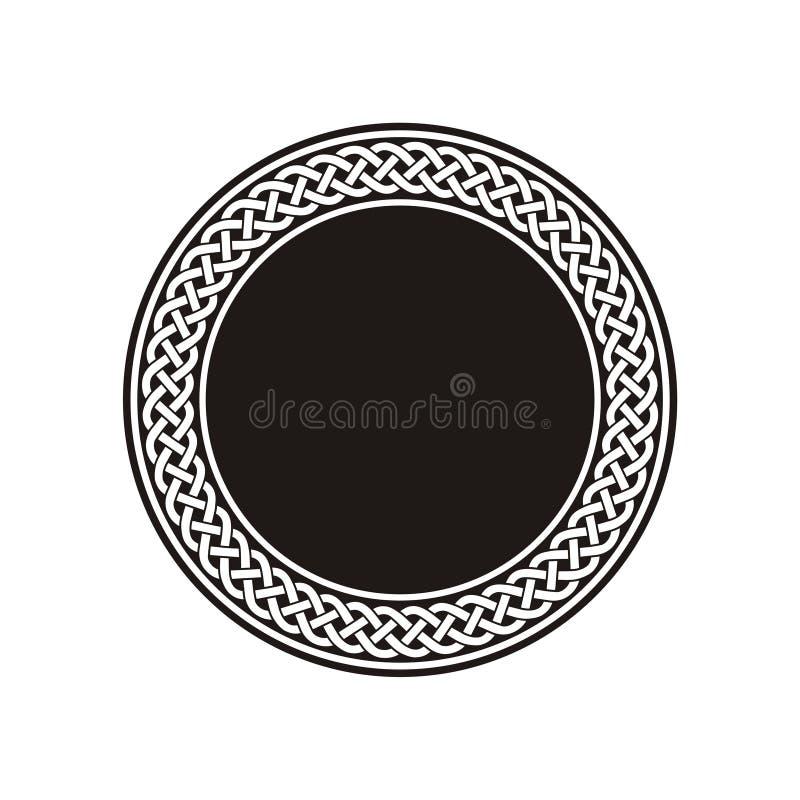 Estoque celta branco do teste padrão de nó ilustração royalty free