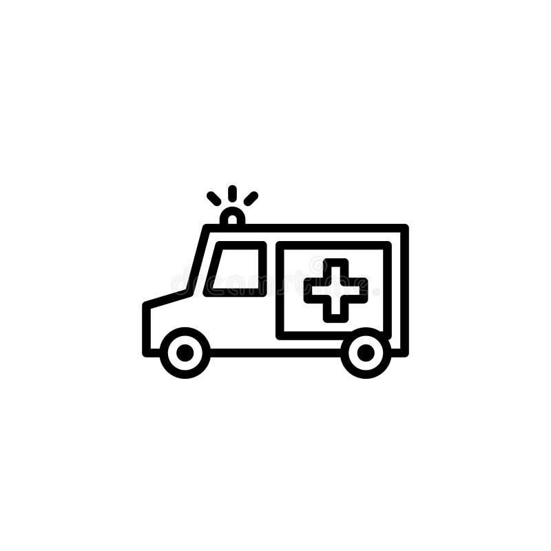 Estoque do ícone da ambulância do vetor isolado veículos do transporte ilustração do vetor