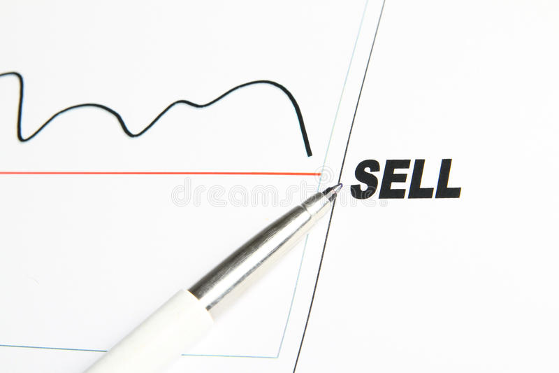 Estoque do Sell imagem de stock