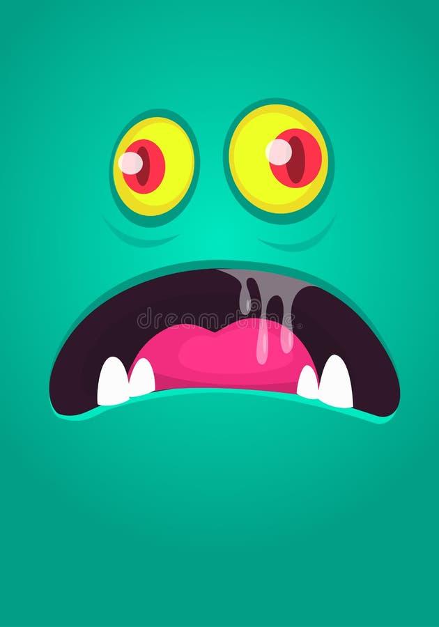 Estoque estrangeiro da ilustração do avatar da criatura dos desenhos animados da cara Projeto das cópias para t-shirt ilustração royalty free