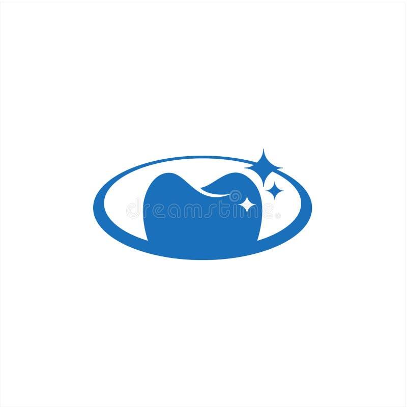 Estoque oval dental abstrato do vetor do ícone do cuidado ilustração stock