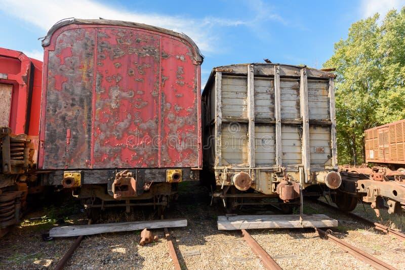 Estoque velho do trem foto de stock