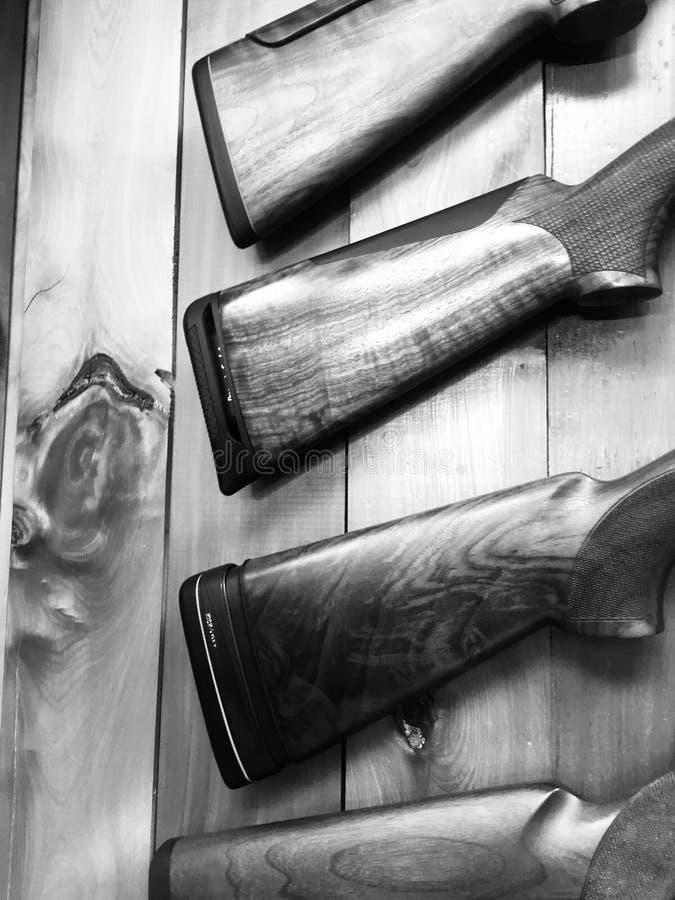 Estoques da arma, preto e branco fotografia de stock