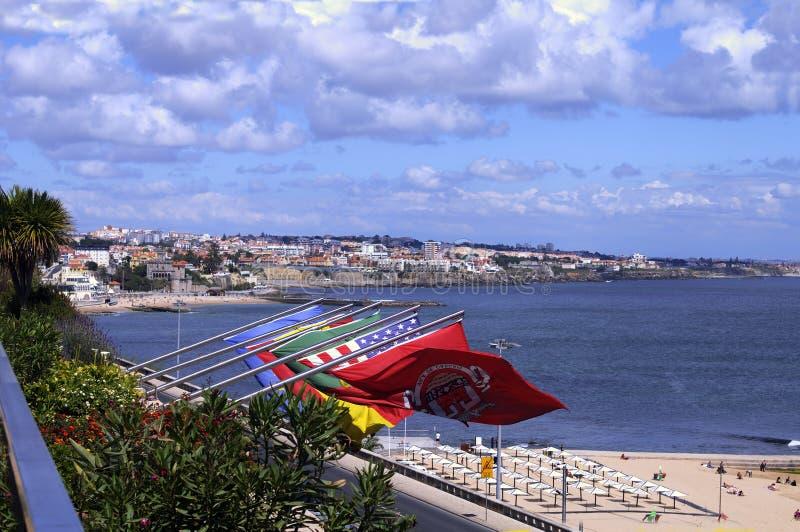 Estoril kust. Portugal stock foto
