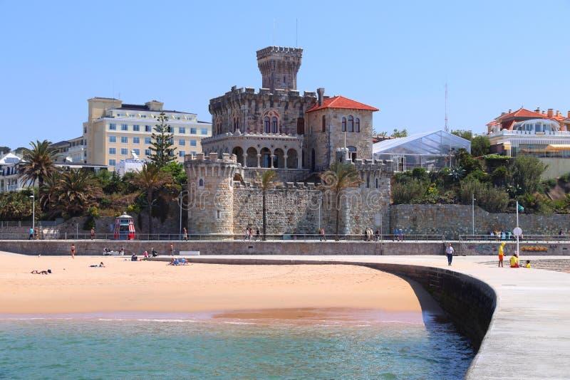 Estoril, Portugal. Forte Da Cruz castle in Estoril, Portugal stock image