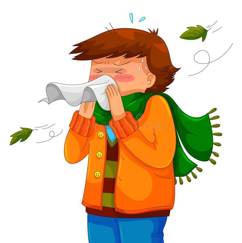 Estornudo stock de ilustración