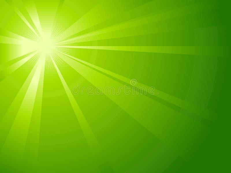 Estouro assimétrico da luz verde ilustração do vetor