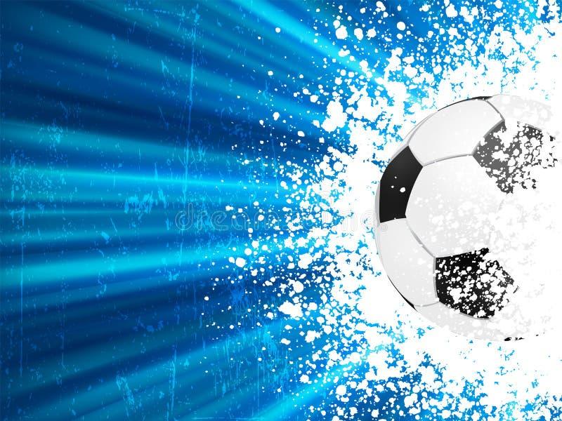 Estouro azul da luz do poster do futebol. EPS 8 ilustração stock