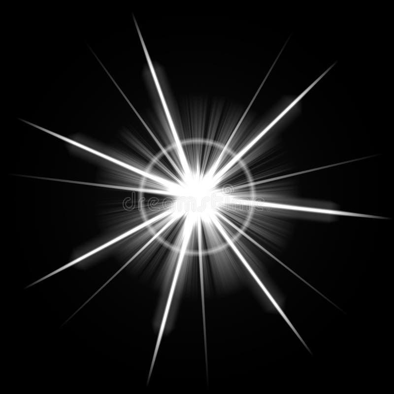 Estouro brilhante do alargamento da lente ilustração do vetor