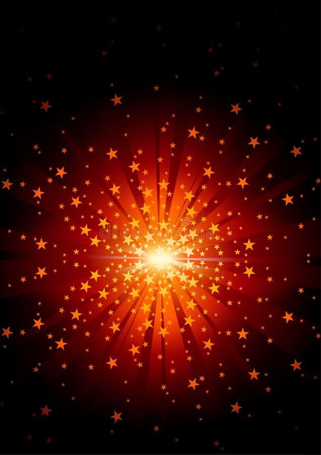 Estouro da estrela ilustração do vetor