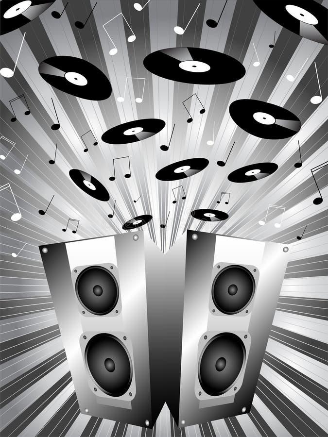 Estouro da música ilustração royalty free