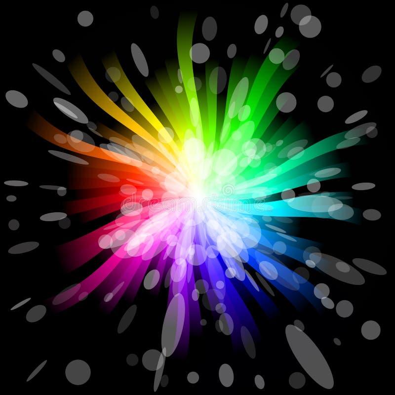 Estouro do arco-íris ilustração stock