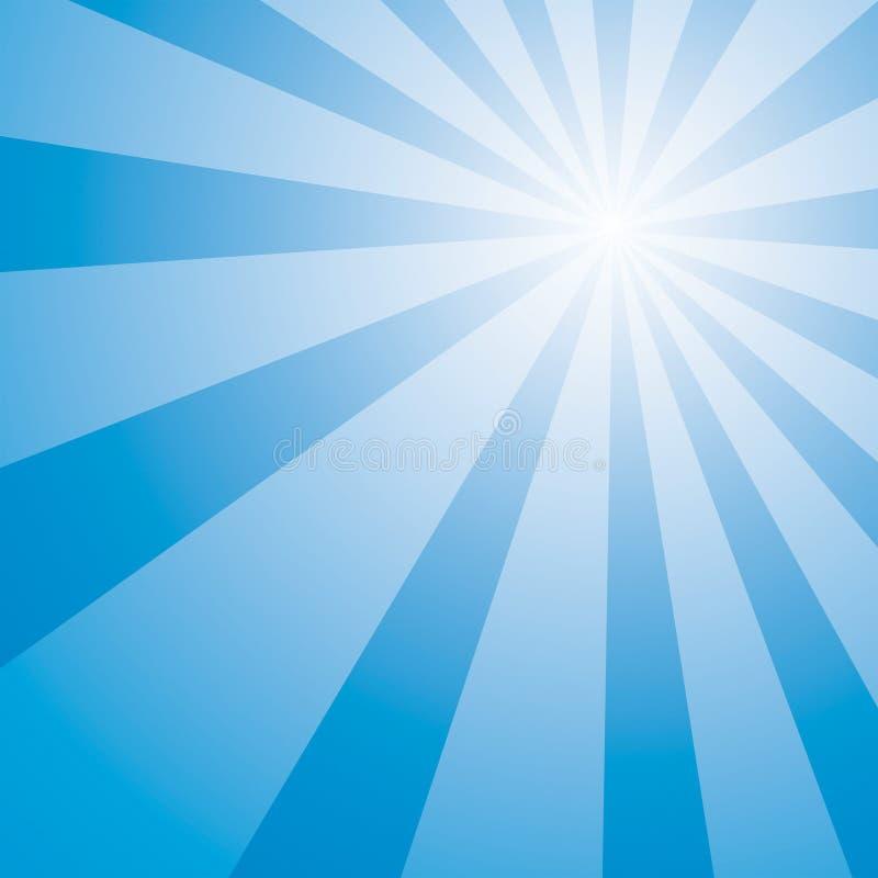 Estouro do céu azul ilustração stock