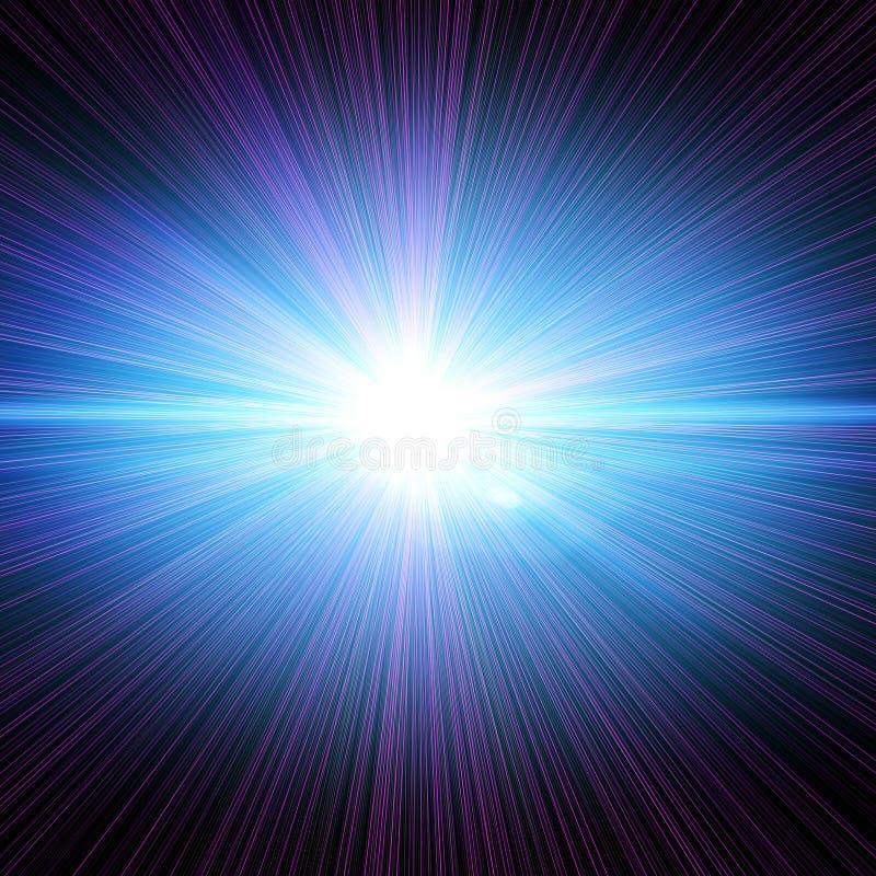 Estouro do laser ilustração royalty free
