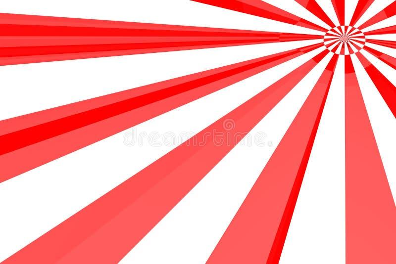 Estouro do vermelho & do branco ilustração stock