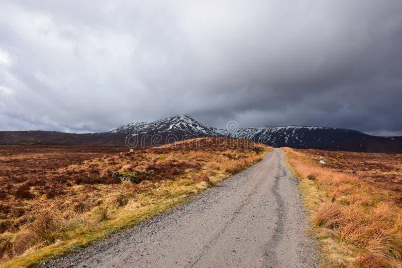 A estrada à cimeira Corrour Escócia imagens de stock royalty free