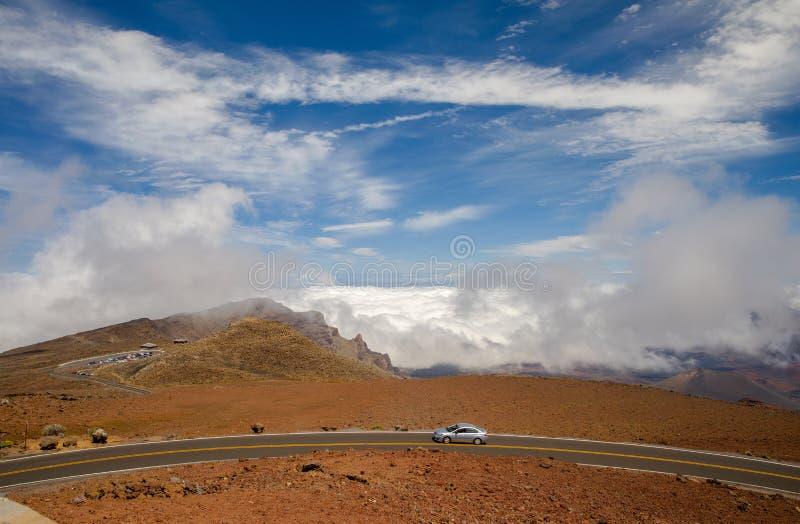 Estrada à cimeira de Haleakala fotografia de stock