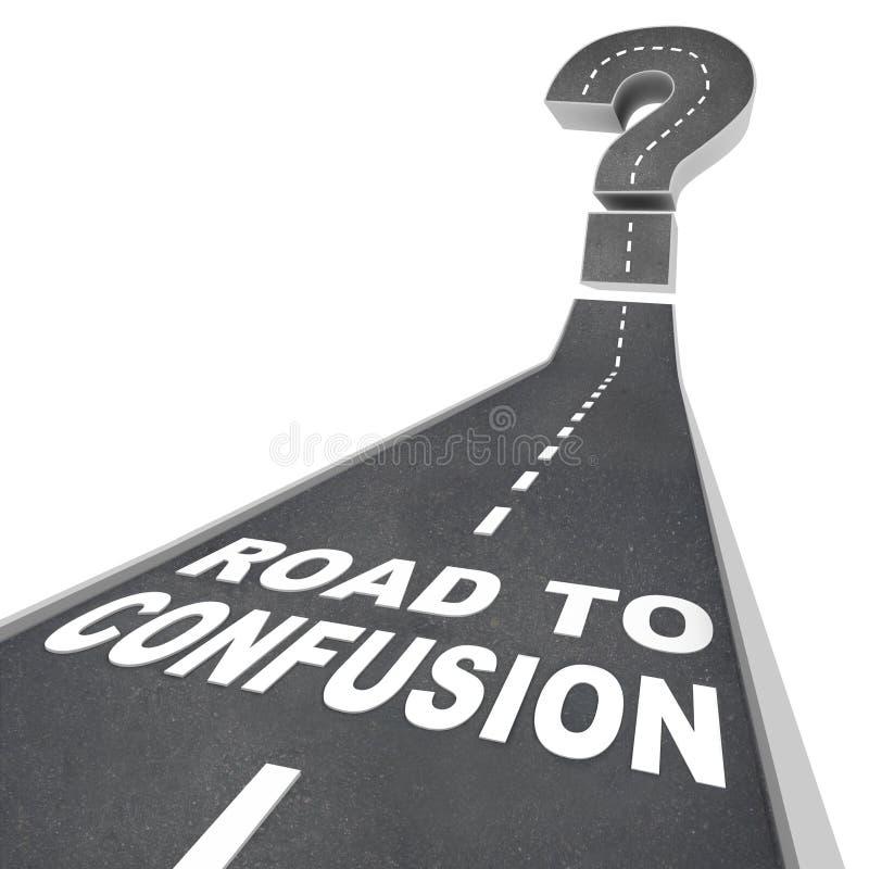Estrada à confusão - palavras na rua ilustração stock