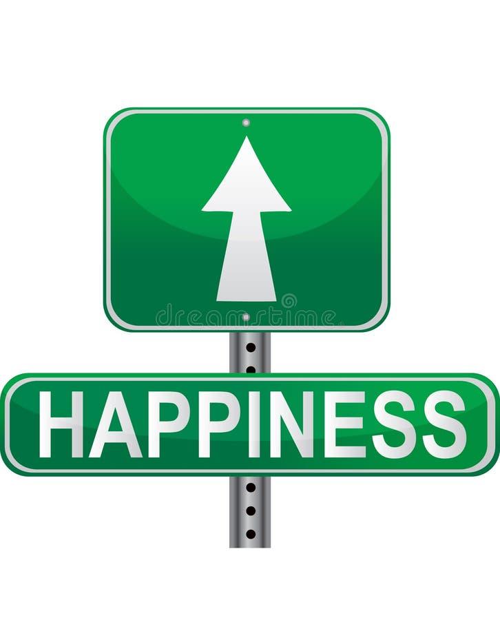Estrada à Felicidade Fotografia de Stock